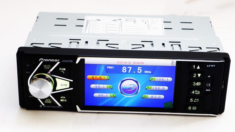 Автомагнитола Pioneer 4038 ISO экран 4,1'' DIVX, MP3, USB, SD