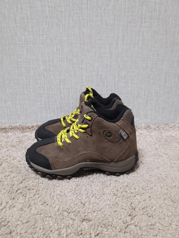 Демисезонные ботинки merrell, замш, размер 28, стелька 17 см.
