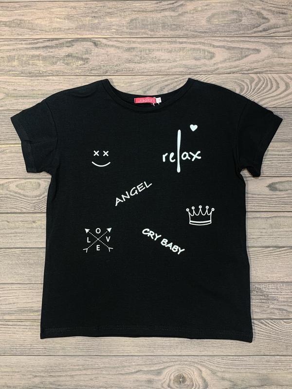 Стильная футболка для девочки 10-14 лет.