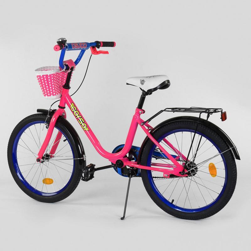 Детский двухколесный велосипед с корзинкой 20 дюймов, 2096 - Фото 2