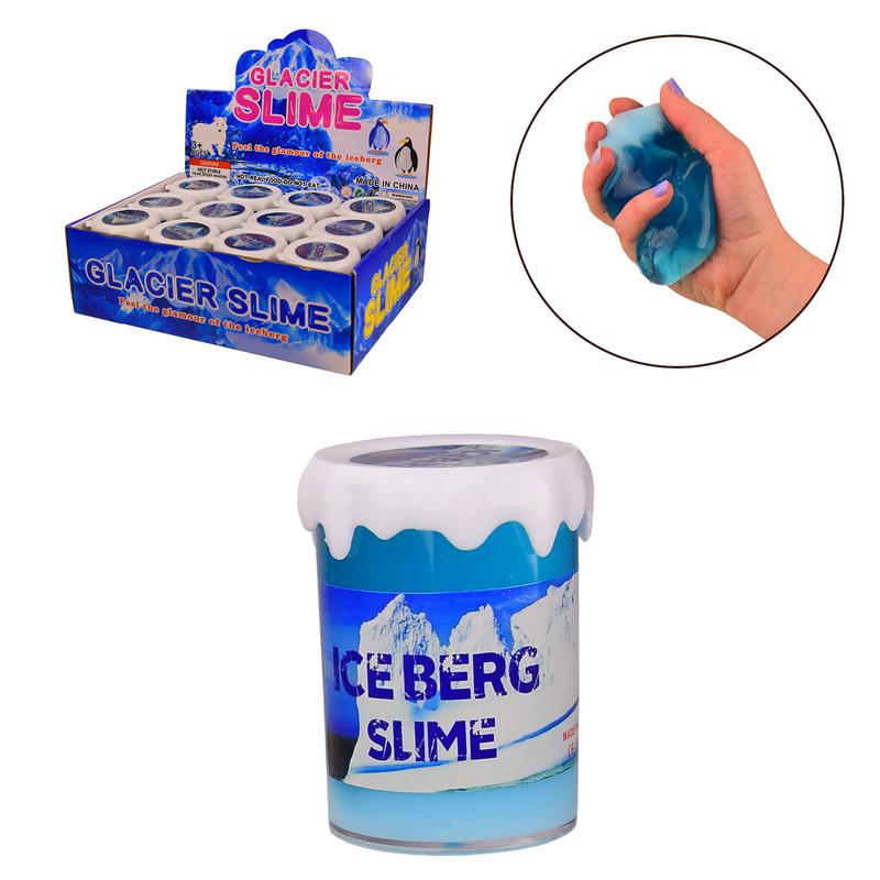 Лизун SL21018 (192шт)айсберг-слайм, 7,5 см,12шт в дисплей бокс...