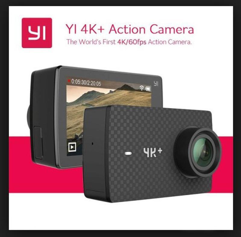 Экшн камера Xiaomi Yi 4K + Plus 60 Action Camera Международная
