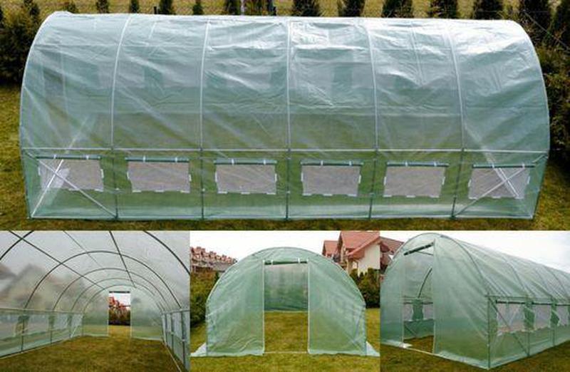 Садова теплиця з вікнами 18м² Парник теплица из пленки 3х шаро...