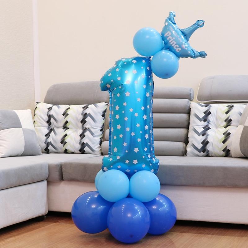 Воздушный шар в форме единицы на день рождения