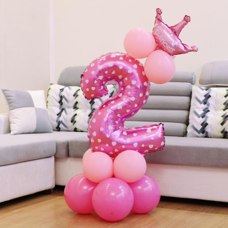 Воздушный шар в форме единицы на день рождения - Фото 2