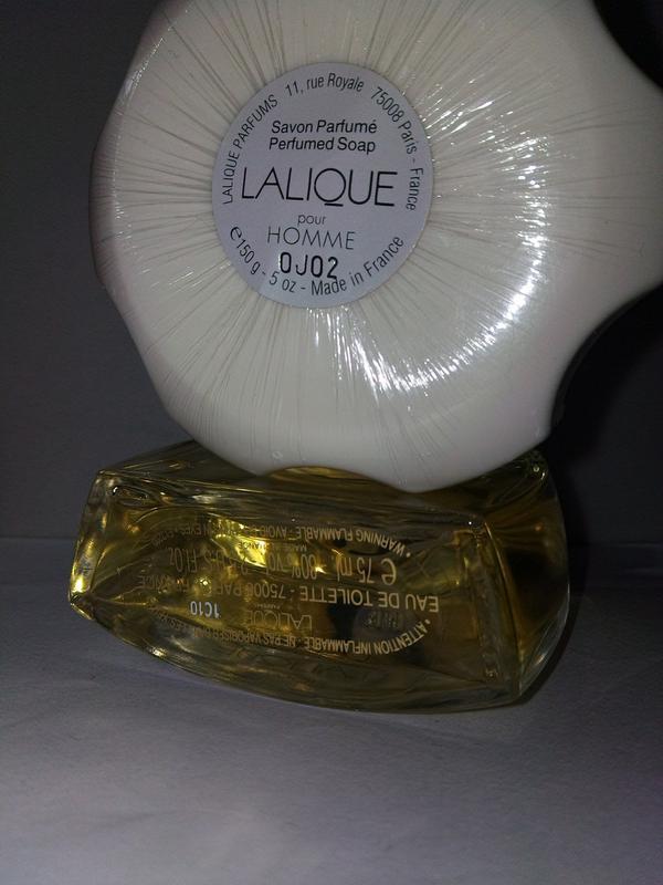 Lalique pour homme 75 мл + мыло 150 гр. набор - Фото 2