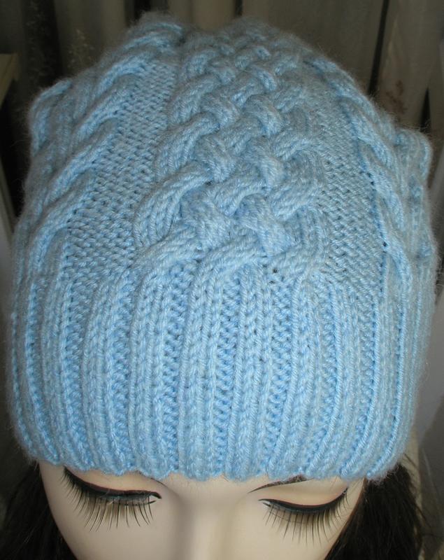 Стильная и теплая шапочка с косами. ручная работа! размер s-l - Фото 2