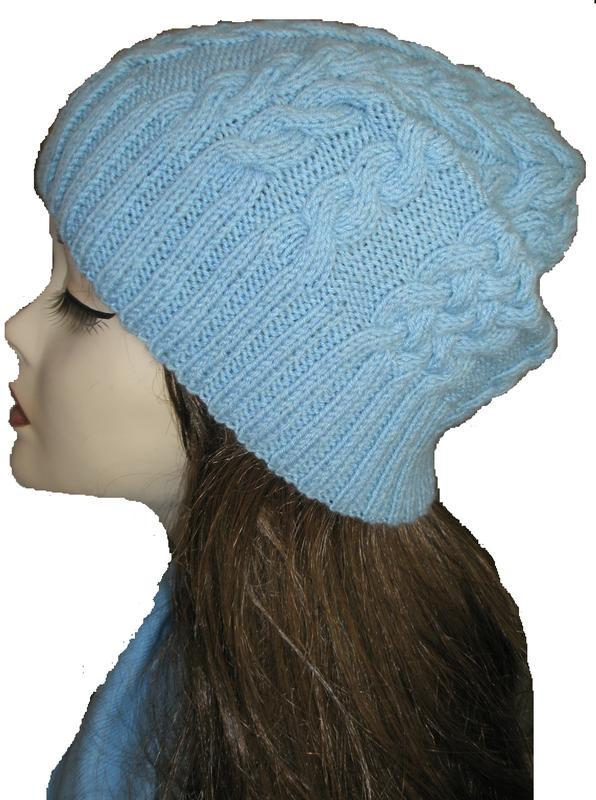 Стильная и теплая шапочка с косами. ручная работа! размер s-l