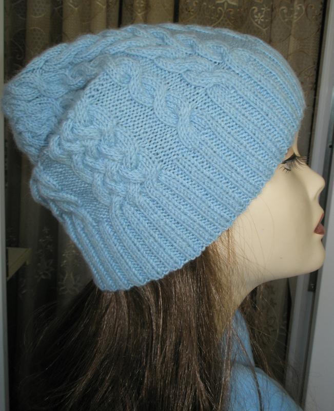 Стильная и теплая шапочка с косами. ручная работа! размер s-l - Фото 3