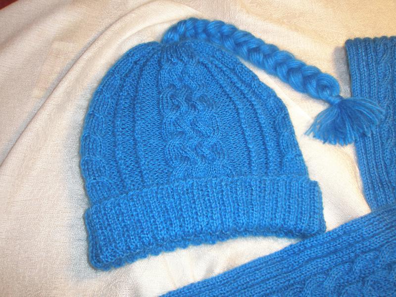 Шарф, варежки, шапочка -эффектное трио - Фото 3