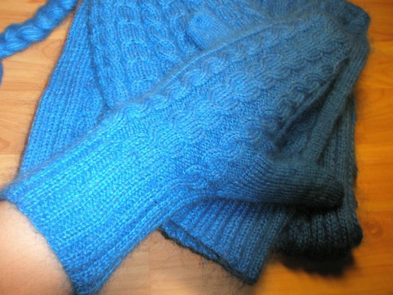 Шарф, варежки, шапочка -эффектное трио - Фото 4