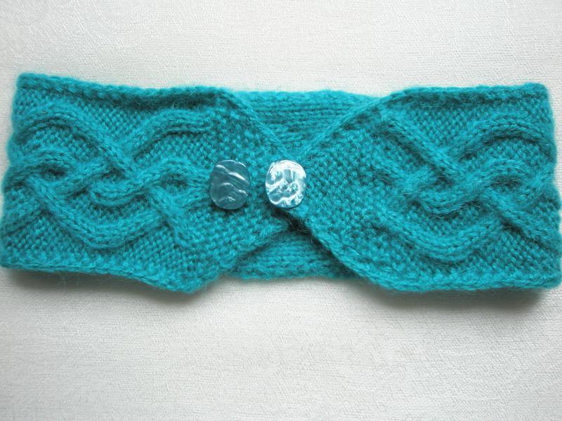 Повязка на голову hand made . цвет: бирюзовый - Фото 3
