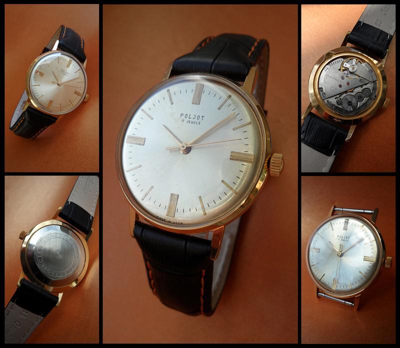 «ПОЛЁТ 2609» ПОЗОЛОТА AU_20, часы мужские из СССР 70-х. механика