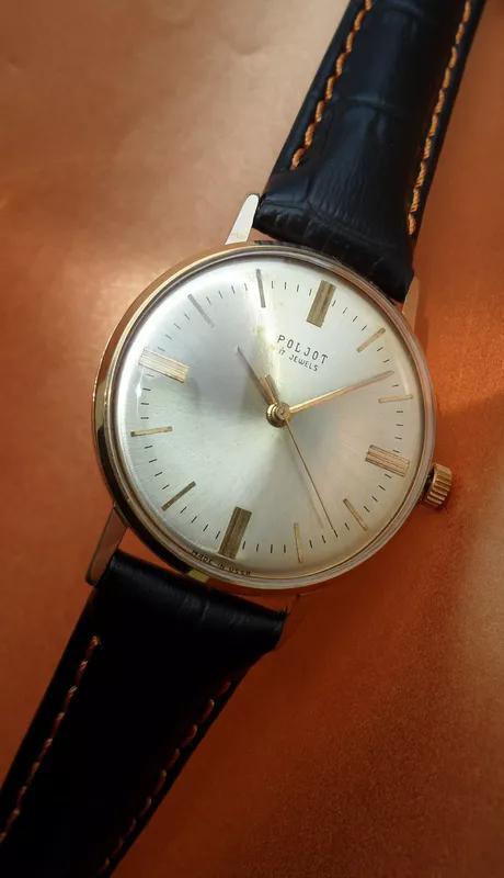 «ПОЛЁТ 2609» ПОЗОЛОТА AU_20, часы мужские из СССР 70-х. механика - Фото 4