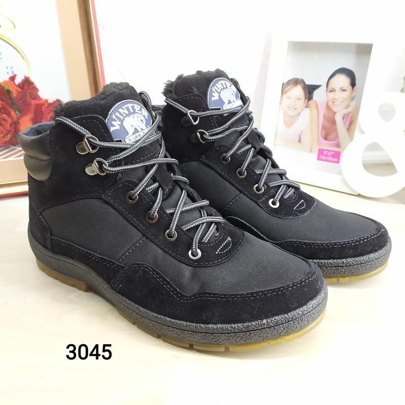Мужские зимние кроссовки на меху dago style - Фото 2