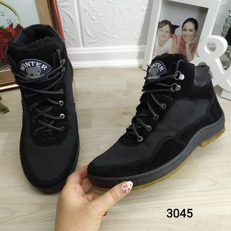 Мужские зимние кроссовки на меху dago style - Фото 5
