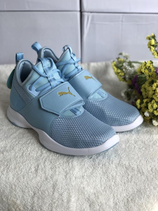 Голубые кроссовки puma soft foam+