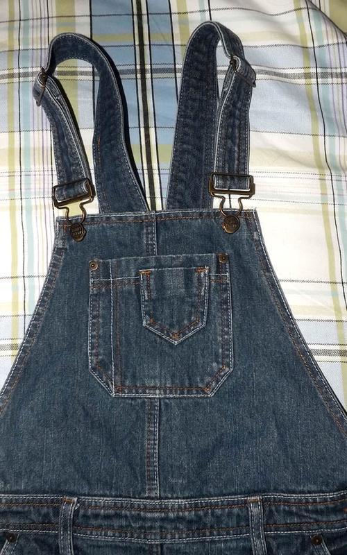 Юбка комбинезон джинсовая, rainbow - Фото 5