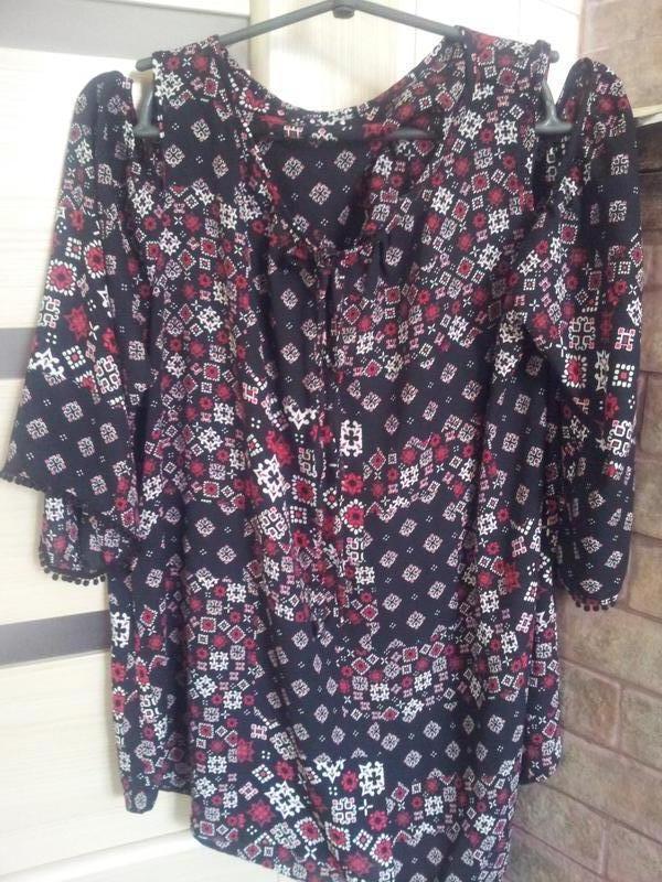 Стильная блуза с открытыми плечаии george
