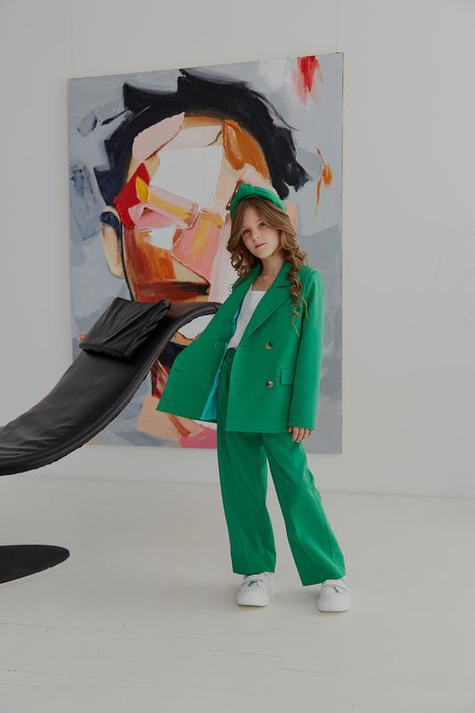 Трендовый детский подростковый костюм двойка оверсайз (пиджак ...