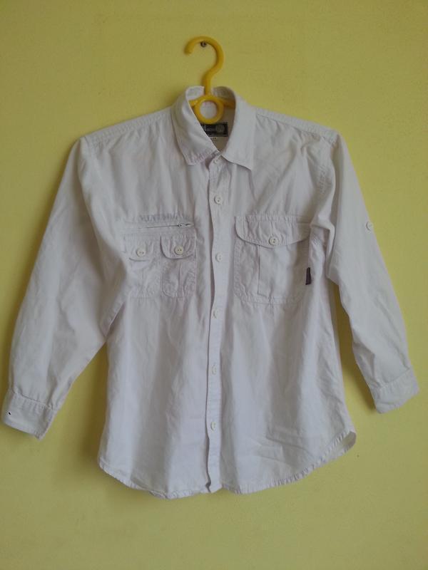 Белая рубашка для мальчика 8-9 лет