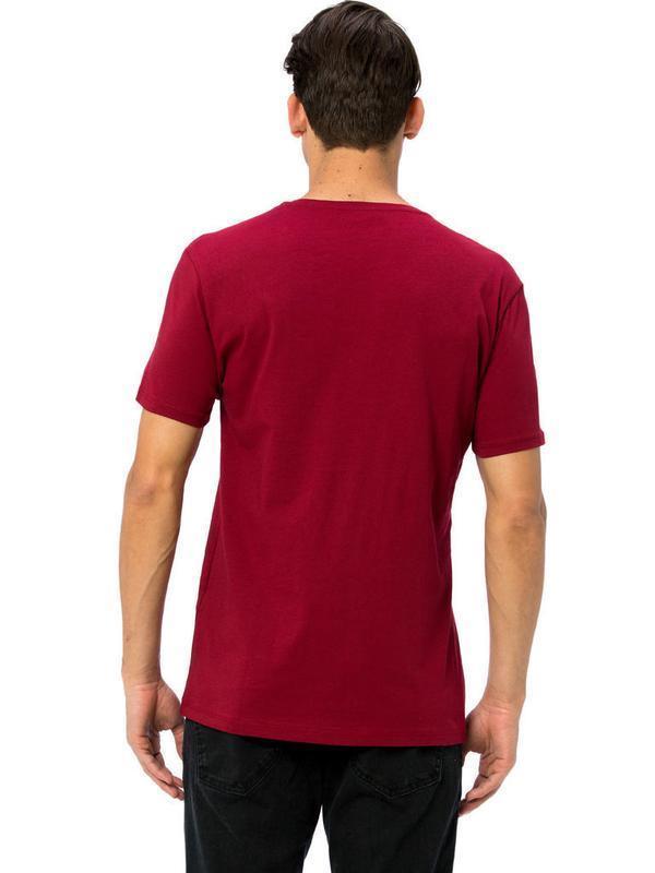 Мужская футболка бордового цвета lc waikiki / лс вайкики футбо... - Фото 3