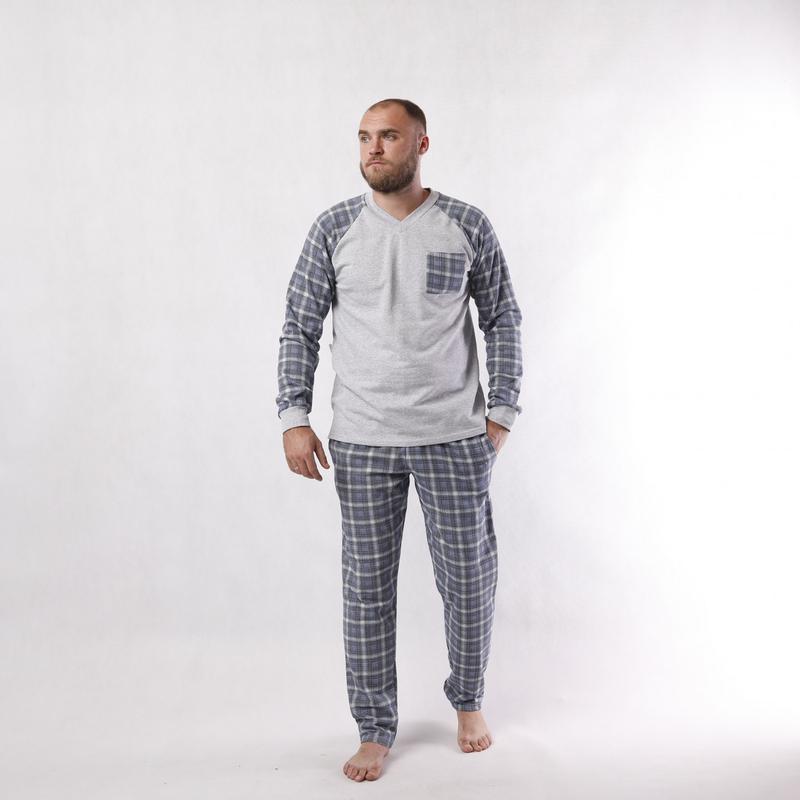 Теплая мужская пижама піжама