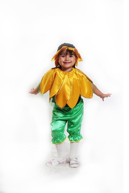 Карнавальный костюм цветочка для девочки, подсолнух