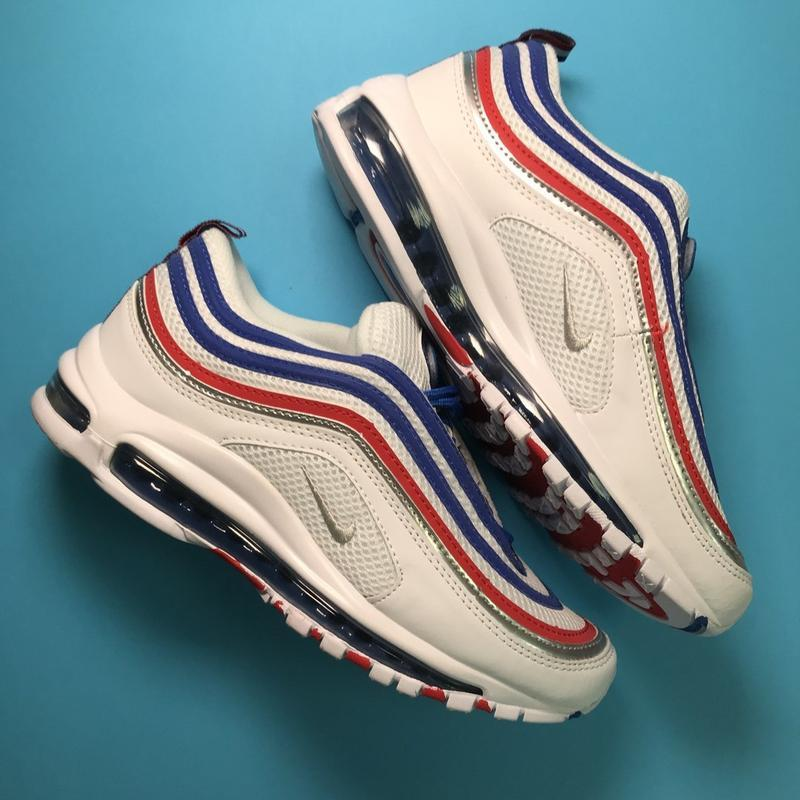 Кроссовки: nike air max 97 white blue - Фото 2