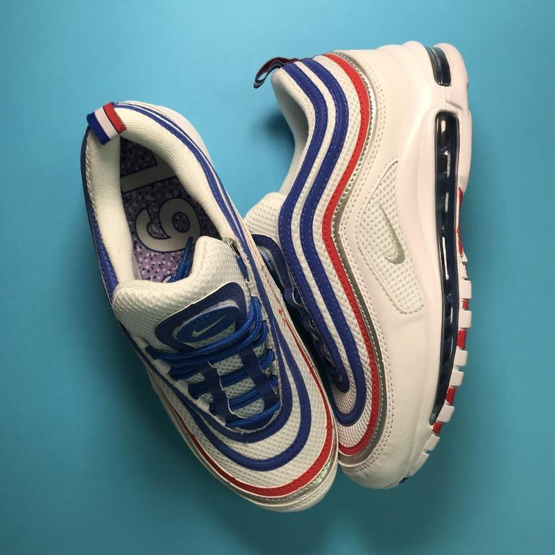 Кроссовки: nike air max 97 white blue - Фото 5