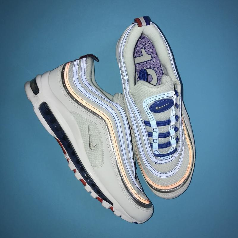 Кроссовки: nike air max 97 white blue - Фото 6