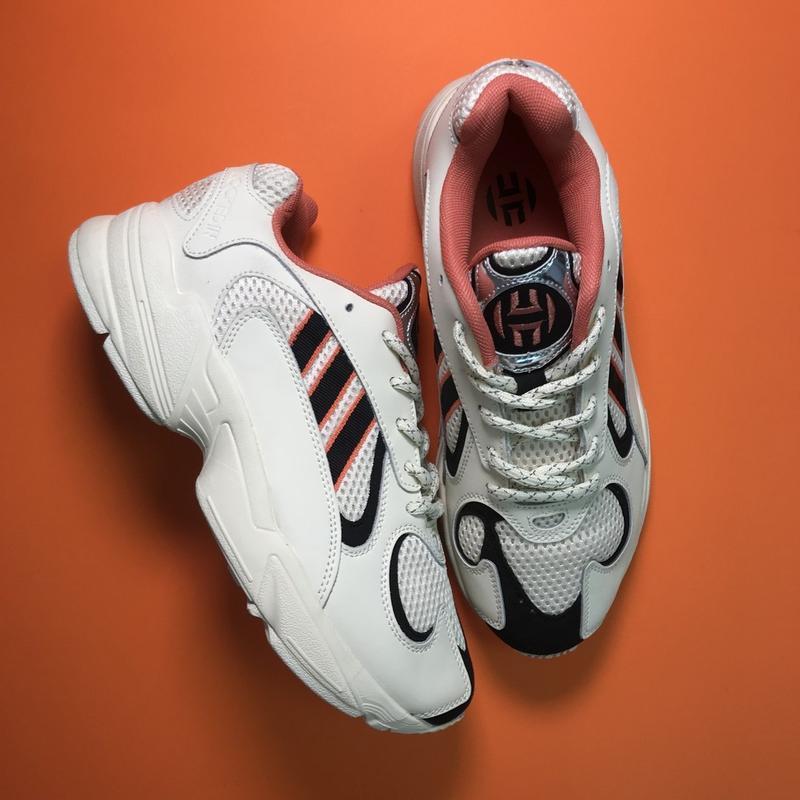 Кроссовки: adidas yung 1 beige black - Фото 2