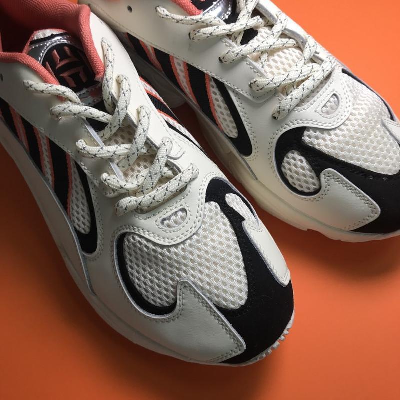 Кроссовки: adidas yung 1 beige black - Фото 7