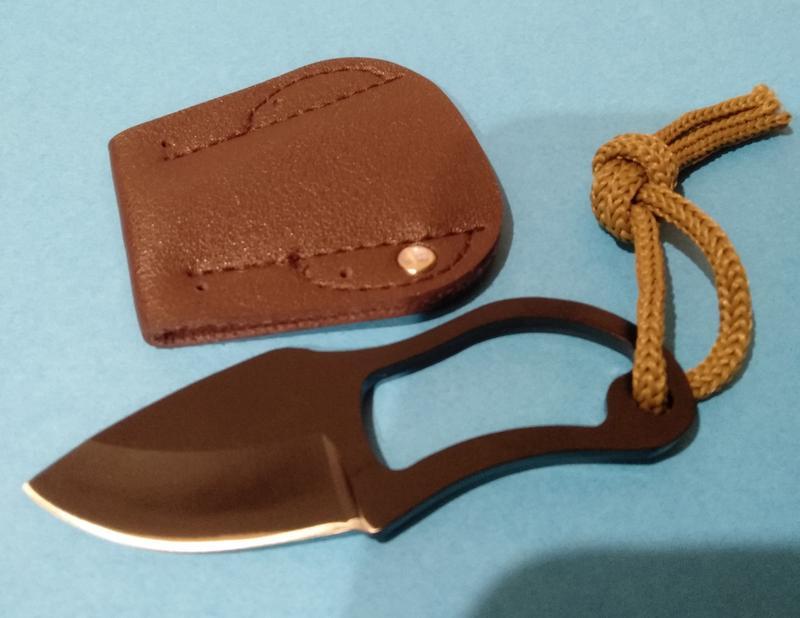 Нож — мини. Нержавеющая сталь, черный. 50 грн.