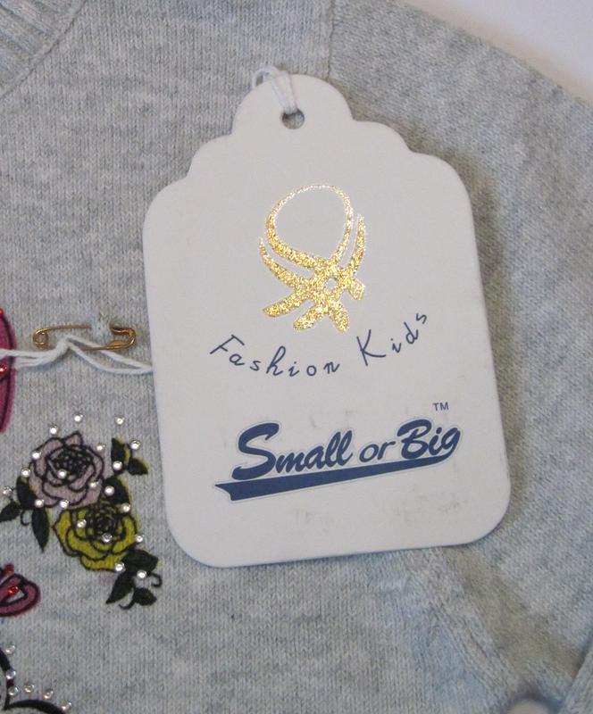 Детский свитер на девочку Small or Big (90 см - 130 см) - Фото 3