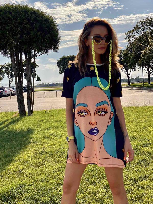 Платье футболка туника