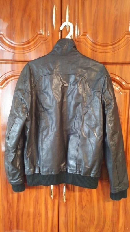 Мужская кожанная куртка jack & jones - Фото 2