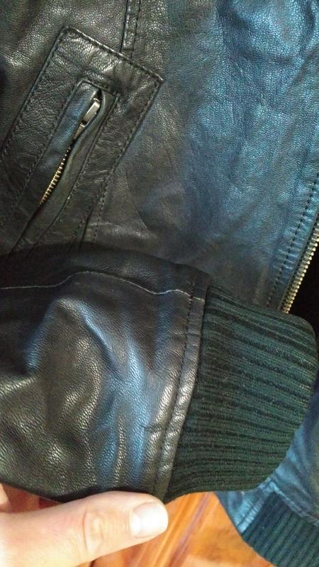 Мужская кожанная куртка jack & jones - Фото 4