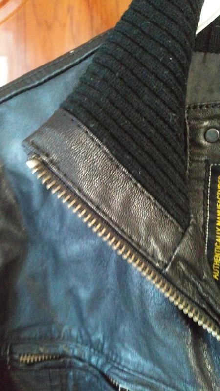 Мужская кожанная куртка jack & jones - Фото 9