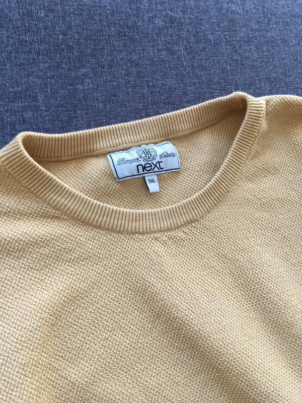 Вафельный свитер next{ 100% хлопок} - Фото 3