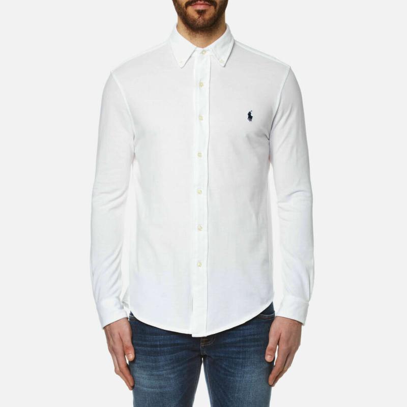 Белая рубашка polo ralph lauren classic made in sri lanka