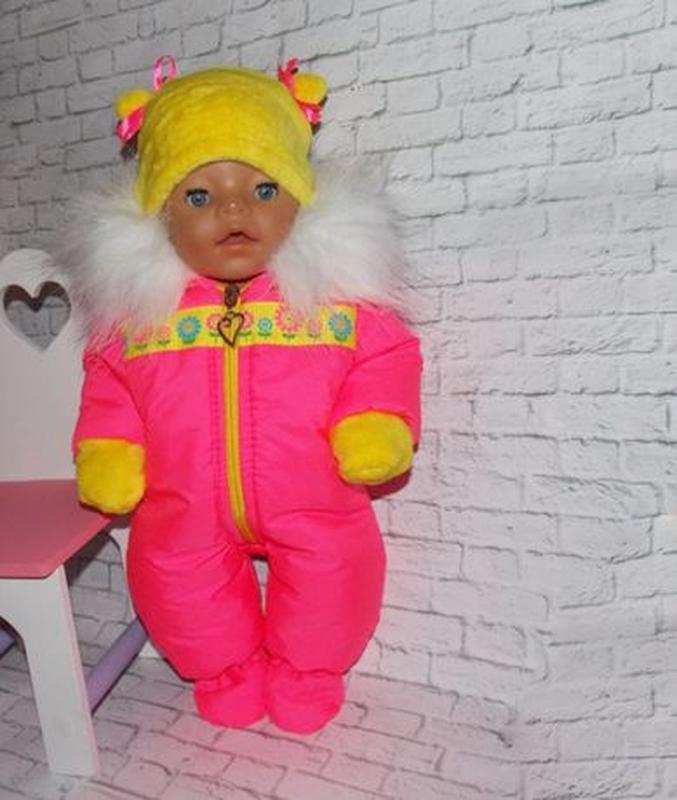 Одежда для кукол-пупсов Беби Борн, Baby Born, зимний комбинезон - Фото 2