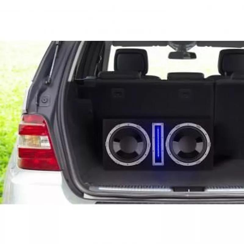 """Basswaver X12L активный автомобильный сабвуфер 2x30cm (12 """") LED - Фото 3"""