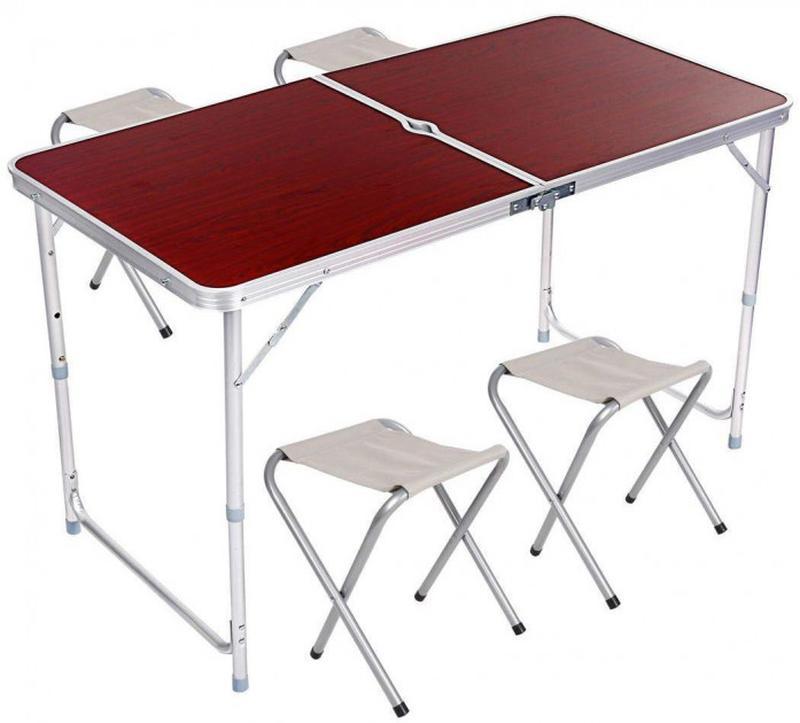 Стол-Чемодан для пикника 4 стульчика PWR Folding Table 120 х 60cm - Фото 2