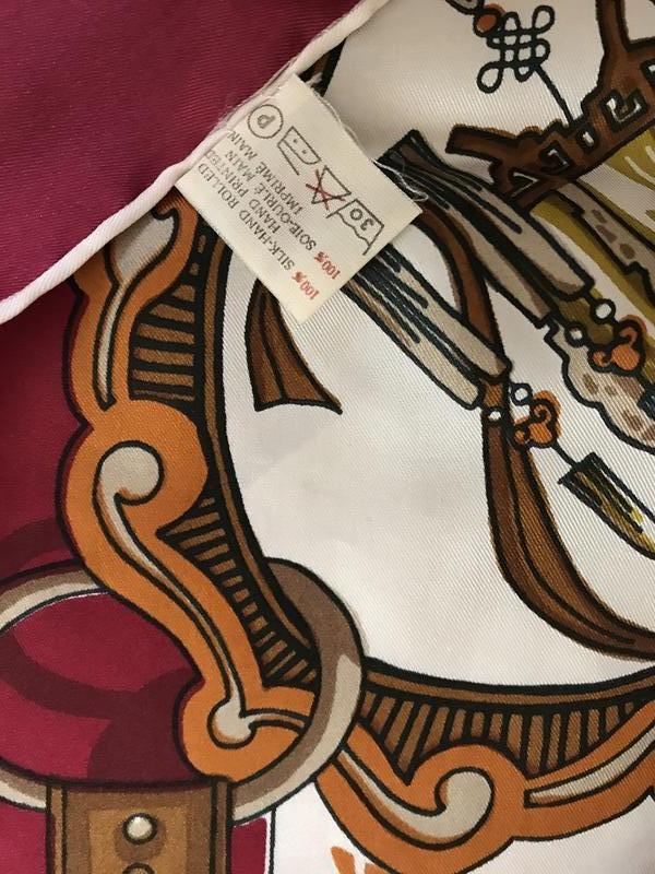 Платок шёлковый большой фирменный - Фото 4