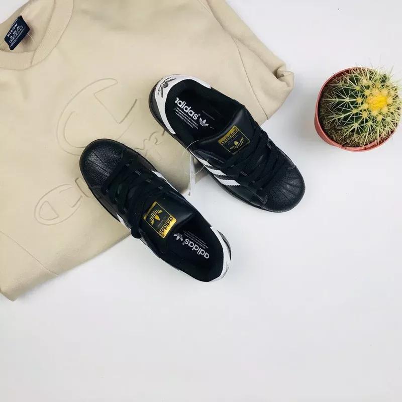 """Кроссовки Adidas Superstar """"Black/Gold"""" - Фото 3"""