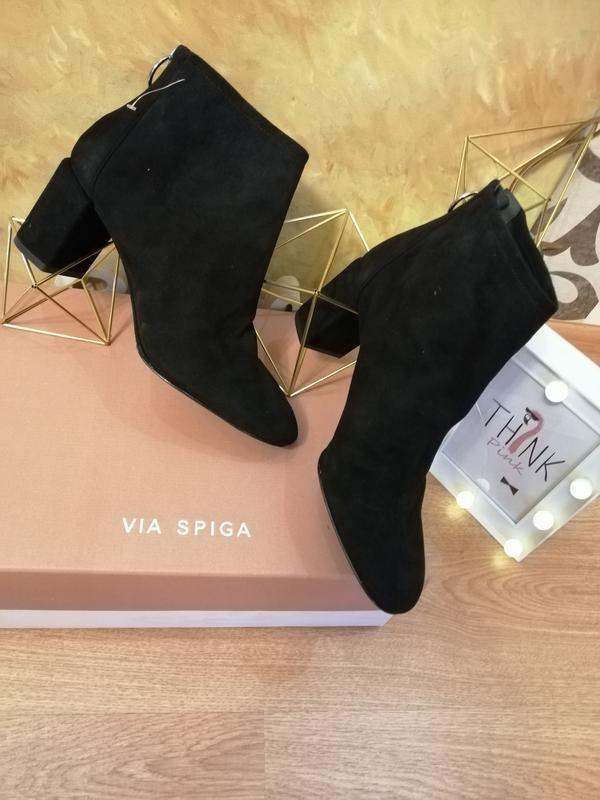 Замшевые ботинки полусапожки nine west