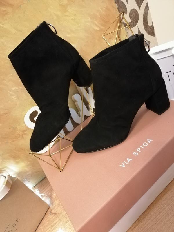Замшевые ботинки полусапожки nine west - Фото 4