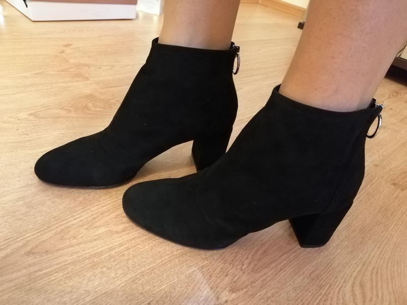 Замшевые ботинки полусапожки nine west - Фото 6