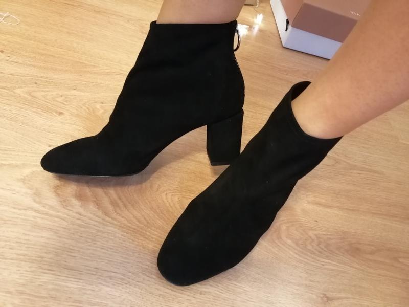 Замшевые ботинки полусапожки nine west - Фото 7